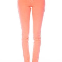 Neon Colored Skinny Jeans in Neon Coral :: tobi