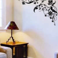 WallStickersUSA Wall Sticker Decal, Tribal Black Flower:Amazon:Baby