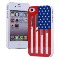 Sliding the Stars and the Stripes Hard Cover Case for Iphone 4/4s