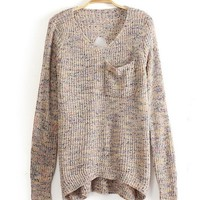 Shining BACKLESS V COLLAR  BACK HOLLOW Fashion SWEATER