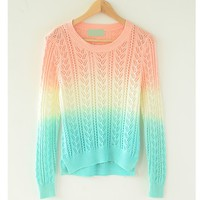 NICE  grandient SWEATER FOR GIRLS