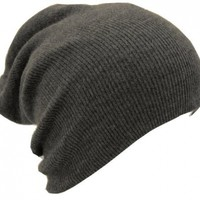 Slouch Beanie Slouchy Hat Ski Hat Snowboard Hat Ribbed Beanie Dark Gray:Amazon:Everything Else
