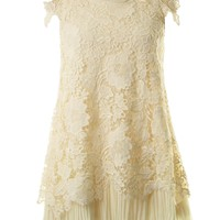 Amy Cream Vintage Crochet Dress