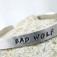 Bad Wolf Doctor Who Hand Stamped Bracelet | foxwise