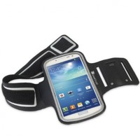 GreatShield Stretchable Neoprene Sport Armband Case with Key Storage for Samsung Galaxy S4 IV, S3 III, S2 II (Black):Amazon:Cell Phones & Accessories