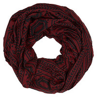 Dark Red Aztec Snood