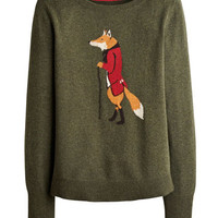 Fox Marsha Womens Intarsia Jumper  | Joules UK