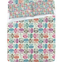 DENY Designs Home Accessories | Sharon Turner Light Sherbet Owls Sheet Set