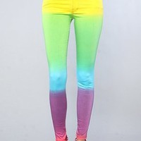 Motel The Jordan Jean in Rainbow Fade,Denim for Women