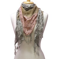 Amazon.com: Tan Lacey Lightweight Boho Styled Summer Fringe Scarf Wrap: Clothing