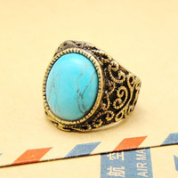 Vintage Style Turquoise Ring 051899