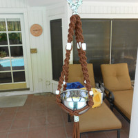 Macrame Plant Hanger Chocholate Chip by magnumrx on Etsy