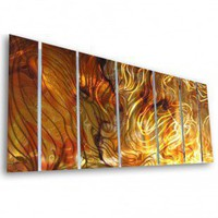 "All My Walls Abstract by Ash Carl Holographic Wall Art in Orange - 23.5"" x 60"" - SWS00038 - All Wall Art - Wall Art & Coverings - Decor"