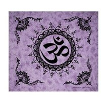 "Wonder Wall ~ Om ~ Giant Tapestry Bedspread ~ 90"" x 100"":Amazon:Home & Kitchen"