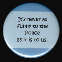 Comedy and The Police Button by kohaku16 on Etsy