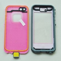 COCO FUN Waterproof Protection Case Cover For Apple iPhone 5 - (Multi Color) - Pink:Amazon:Cell Phones & Accessories