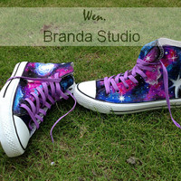 2013 Galaxy Shoes,Studio Hand Painted Shoes 49.99Usd,Paint On Converse Shoes Only 89Usd,Buy One Get One Phone Case Free,Galaxy Converse