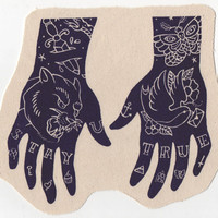 Stay True Tatted Hands Silkscreen Patch