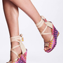 Print Platform Wedge Sandal 