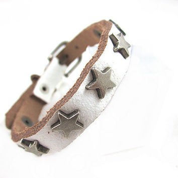 Bracelet Cuff Leather Bracelet by mooli on ETSY