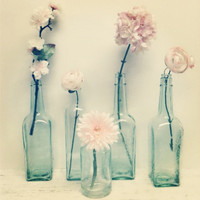 Aqua Glass ,Vase Lot,Beach Wedding,Wedding Vase,DIY Wedding ,Beach Decor, Mint Green Glass,Garden Wedding,Flower Vase,Shabby Chic Wedding