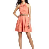 Jessica Simpson Women's Halter Belt Dress