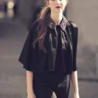 Clothing - OUTERWEAR - Sabrina Cape - eryn brinie