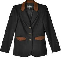 Samantha Pleet Black & Brown Novel Blazer