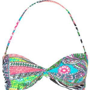 FULL TILT Mixed Media Bikini Top: Clothing