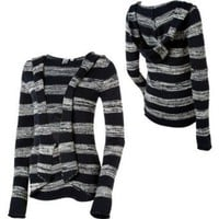 Roxy Wind Talkers Sweater Cardigan-Navy/White