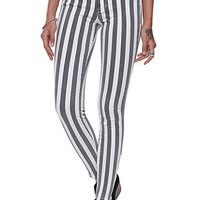 Bullhead Denim Co High-Rise Ankle Zip Striped Jeans at PacSun.com