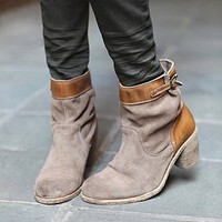 Free People Womens Paperback Ankle Boot - Beige, 36 Euro