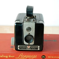 Vintage Camera Kodak Brownie Hawkeye Flash Model - Working Antique Camera