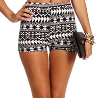 BlackWhite Tribal Shorts
