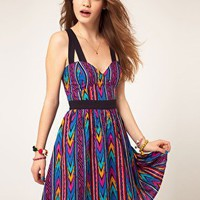 ASOS | ASOS Summer Dress In Aztec Print at ASOS