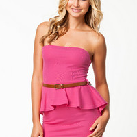Mini Dip Hem Bandeau Dress, Club L