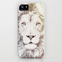 The Intellectual Lion iPhone & iPod Case by Paula Belle Flores