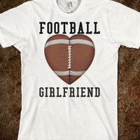 FOOTBALL GIRLFRIEND TEE T SHIRT