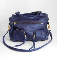 5 pocket Willow bag in deep blue clip on by valhallabrooklyn