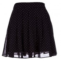 The Black Flared Chiffon Skirt