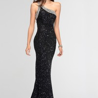 Scala 47541 Sparkly One Shoulder
