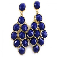 Cobalt Blue Teardrop Earrings