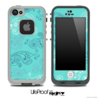 Blue Seamless Illustration Skin for the iPhone 5 or 4/4s LifeProof Case - iPhone