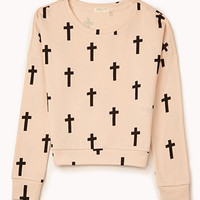 Cross Print Sweatshirt | FOREVER 21 - 2000110808