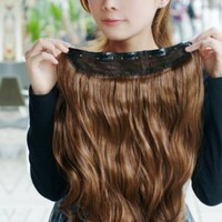 World Pride Gorgeous Long Curly Clip-on Hair Extension Wigs - Light Brown:Amazon:Health & Personal Care