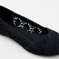 Soda Faddy Cute Casual Crochet Slip On Ballet Flat:Amazon:Shoes
