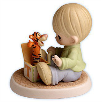 "Precious Moments Disney Figurines - Winnie the Pooh's Tigger: ""The Wonderful Thing About Tiggers"" - Precious Moments Disney Collection $55.00"