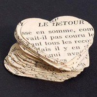 vintage craft supplies 50 French heart