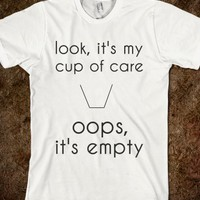 cup-Unisex White T-Shirt