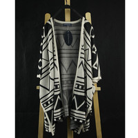 Knit Cardigan with Triangle Pattern